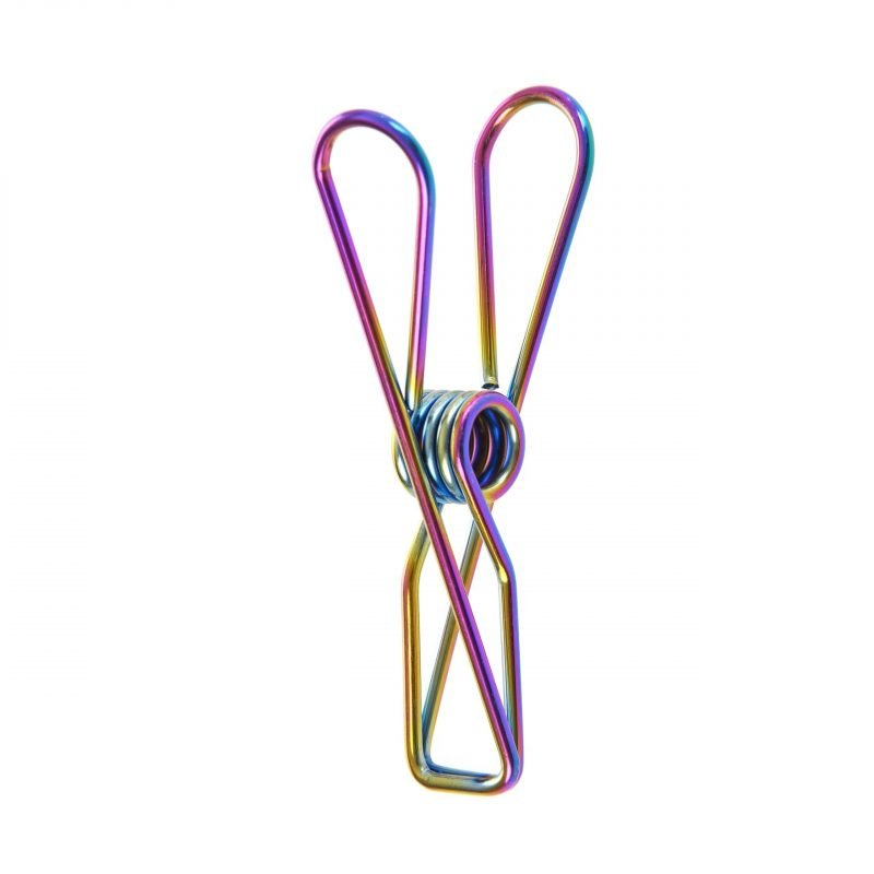 large rainbow clothes pegs